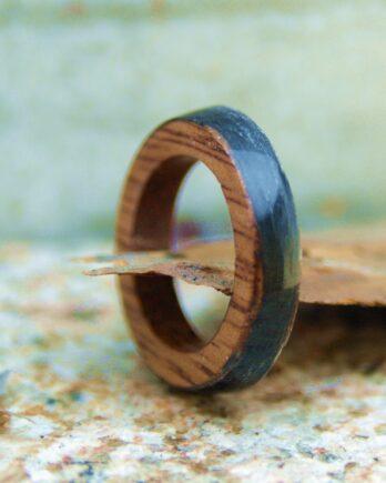 кольцо дерево карбон