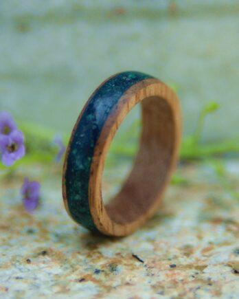 кольцо дерево оникс