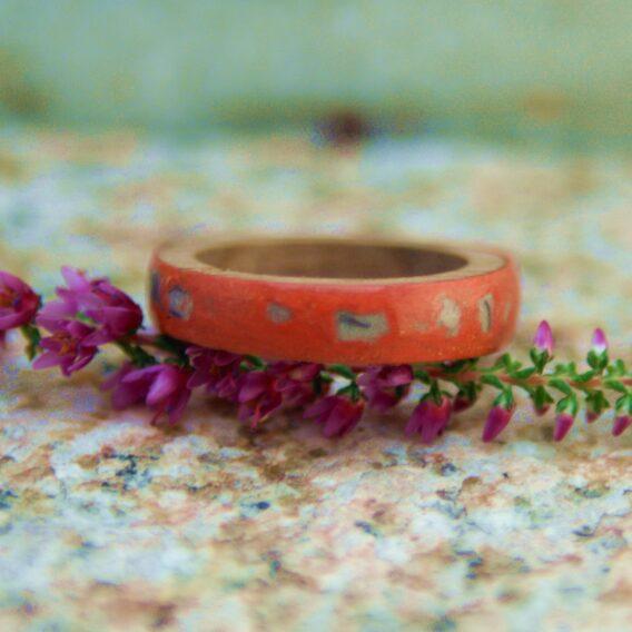 деревянное кольцо ораньжевое