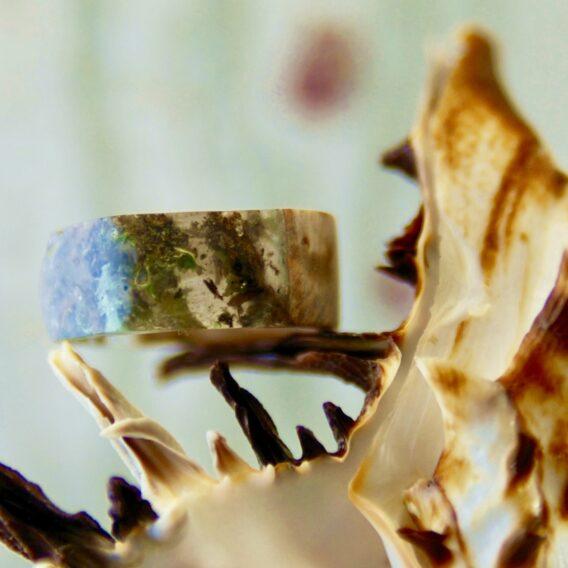 кольцо из капа березы смолы и мха