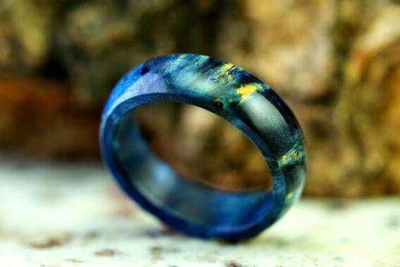 Деревянное кольцо из стабилизированного дерева wooden ring stabilized wood