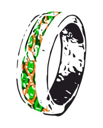 Деревянные кольца с инкрустацией