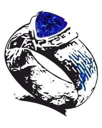 Деревянные кольца с вставками