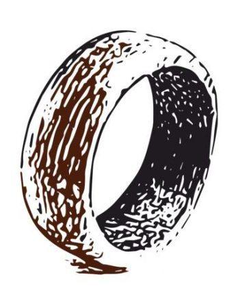 Кольца из дерева (простые)