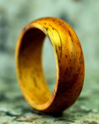 Кольцо из дерева ироко wooden ring handmade украшения из дерева