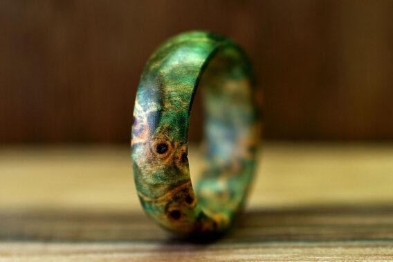 Кольцо из стабилизированного дерева wooden ring stabilized wood