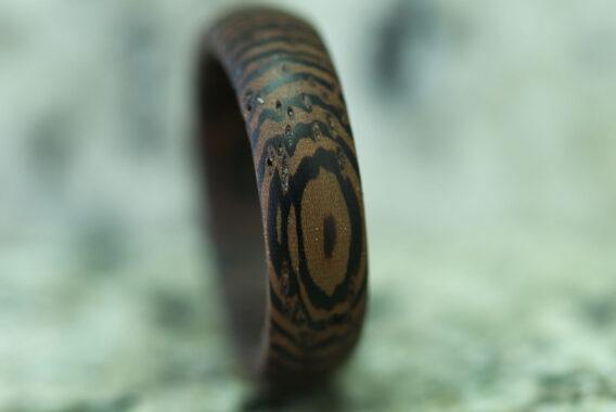 Кольцо из дерева покрытие масло/воск древесина венге wooden ring venge